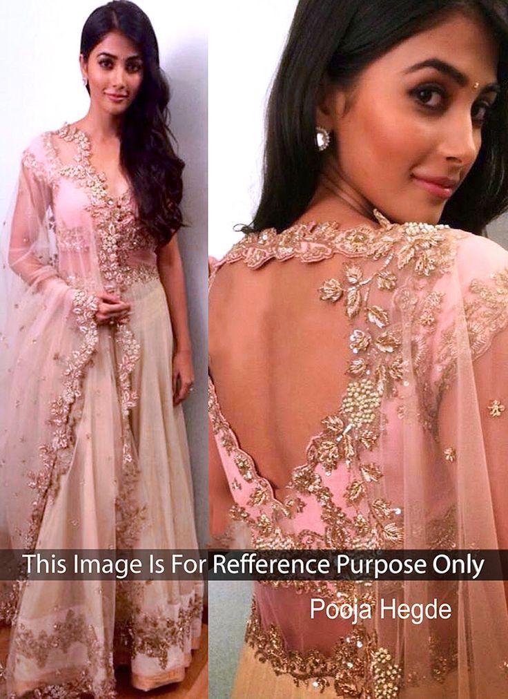 Pooja Hegde Off White Net Lehenga Choli My Style Desi
