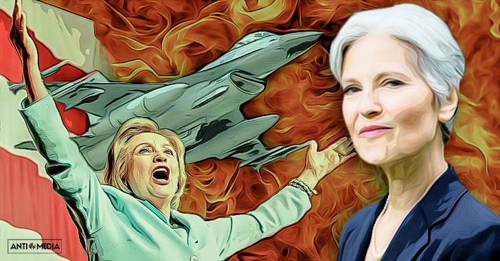 "Jill Stein Slams Hillary Clinton's Foreign Policy As ""Scarier Than Trump's""~~""It should clear to everyone that a vote for Hillary Clinton is a vote for war."""
