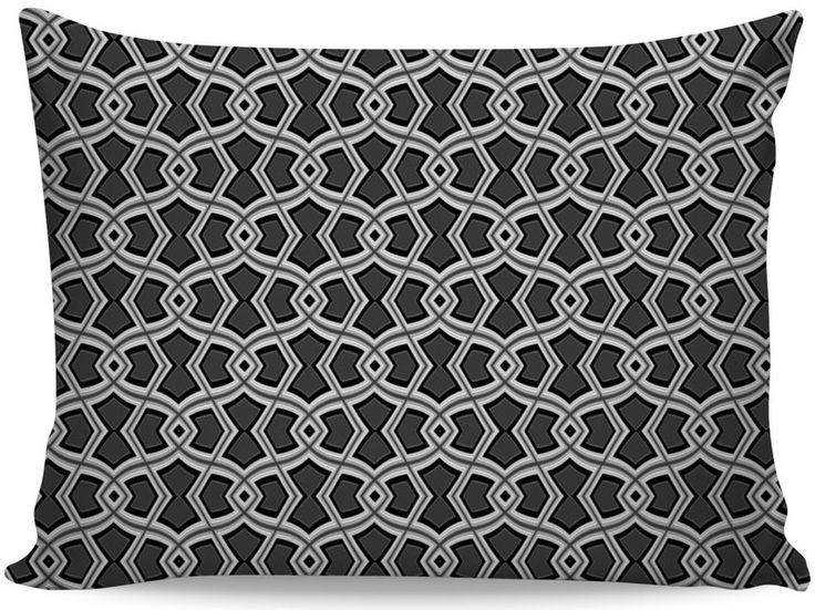 Diamond Shapes on Charcoal Pillow Case by Terrella
