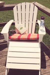 Adirondack style and recycled  Trex outdoor furniture - 90% milk jugs!