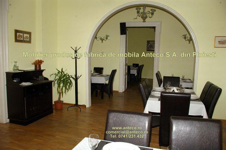 Mese si scaune pentru restaurant produse de fabrica Anteco S.A. din Ploiesti