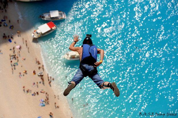 Base Jumping in Zakynthos #basejumping #zakynthos #greece