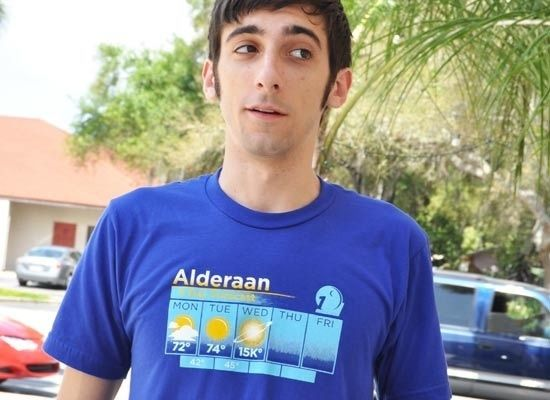 Alderaan 5 Day Weather Forecast Shirt!