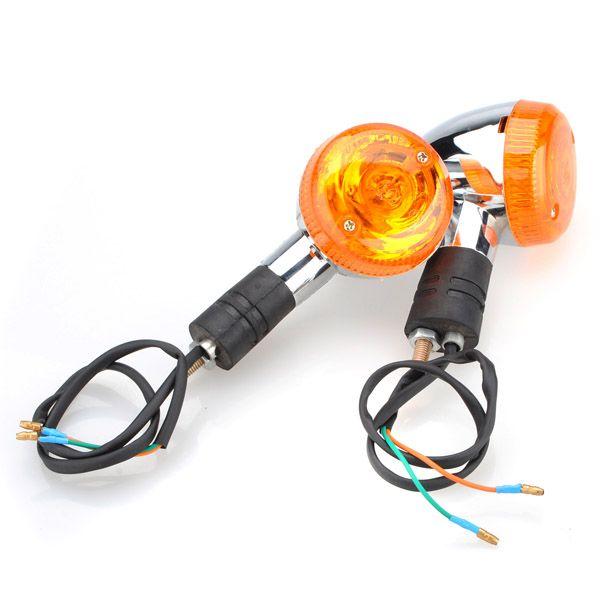 Универсальный мотоцикл указатель поворота сигнала янтарный объектив лампочки