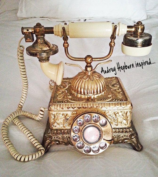 vintage phone, audrey hepburn, breakfast at tiffanys