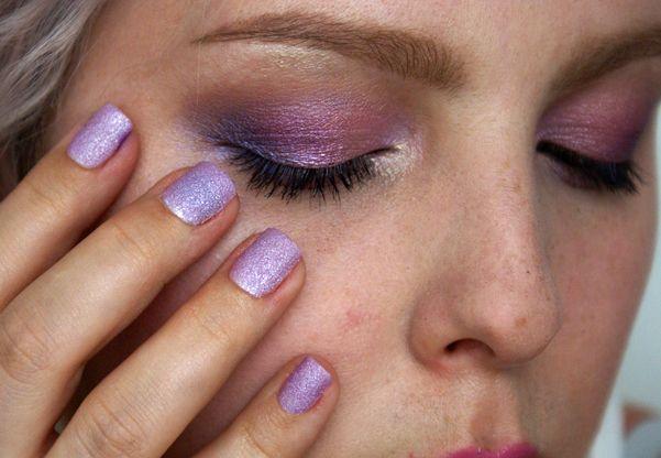 Něžné Růžovo-Fialové Kouřové Líčení Makeup Tutorial