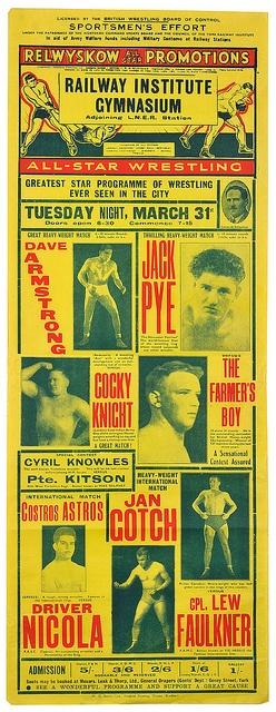 wrestling poster, york