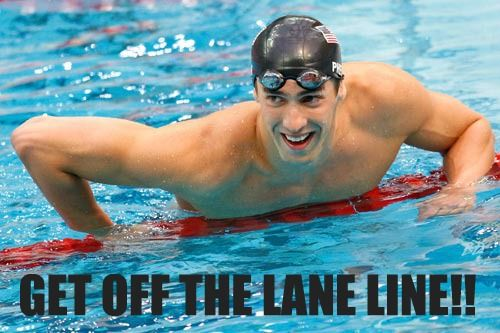 GET OFF THE LANE ROPE, YOU'LL STRETCH IT! FOR THE 5TH TIME, GET OFF THE DAMN LANE ROPE.