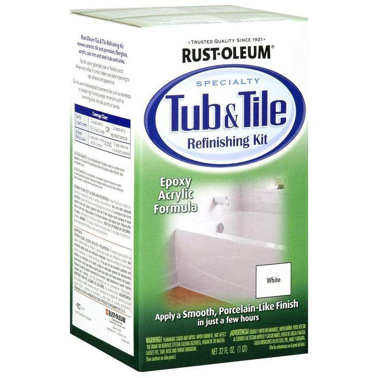 1 qt white tub and tile refinishing kit in 2020