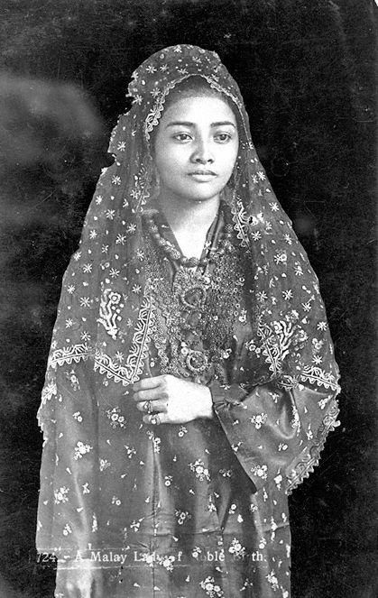 PHOTOGRAPH OF A MALAY LADY OF NOBLE BIRTH | 1924