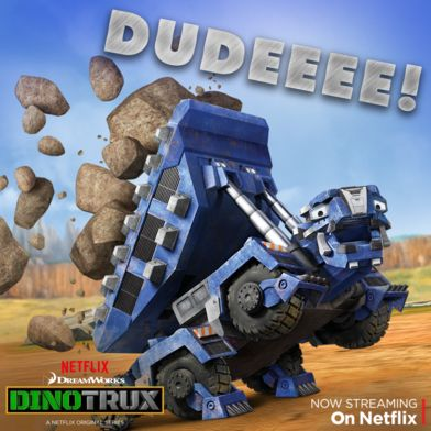 "This is one rockin' ankylodump! Check out Ton-Ton and his cool moves on the ""Ty and Revvit"" episode, on Netflix. #Dinotrux"