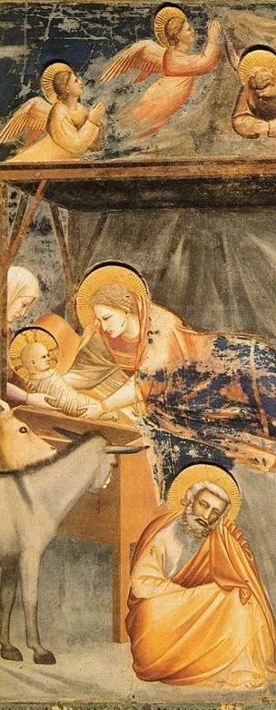 Giotto di Bondone (1267-1337), Cappella Scrovegni a Padova, Life of Christ, Nativity, Birth of Jesus