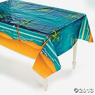 Tropical Palm Tree Table Cover, Table Covers, Tableware, Party Themes & Events - Oriental Trading