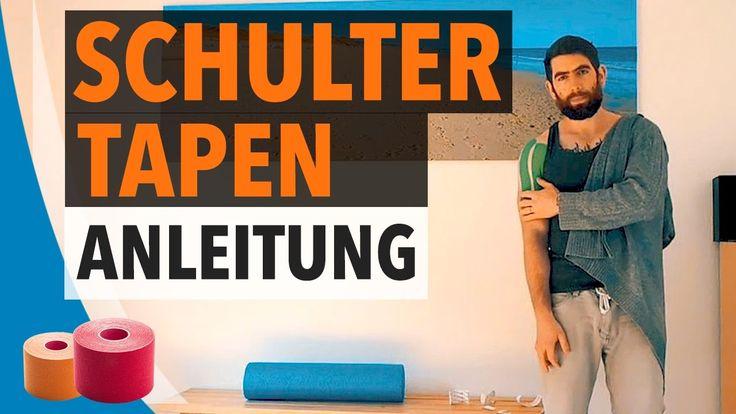 SCHULTER TAPEN / STABILISIEREN - Kinesiologie Tape Anleitung für Schulter