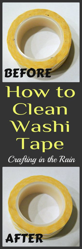 How to Clean Your Washi Tape | Crafting in the Rain.. Whether you have a museum-style collection of washi tape or just a couple of rolls, and whether you have them laying in a drawer or all stored in a fancy tape dispenser, chances are one of them is going to roll off your table and end up on the floor.