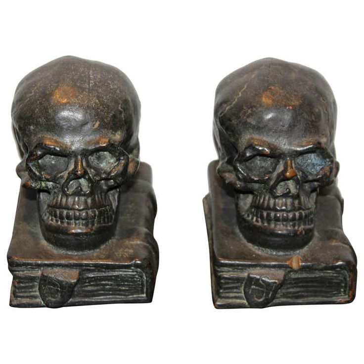 Bookends skulls and bronze on pinterest - Gothic bookends ...