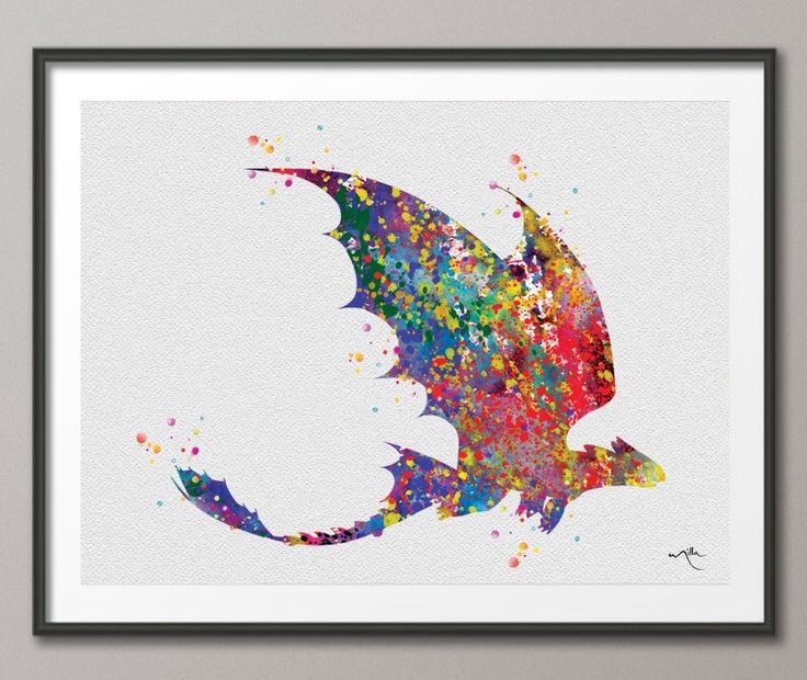 Toothless Fury How to train your DRAGON Watercolor  Art Print Wall Art Poster Wall Decor Art Home Decor Wall Hanging [NO 265] by CocoMilla on Etsy https://www.etsy.com/listing/204610571/toothless-fury-how-to-train-your-dragon