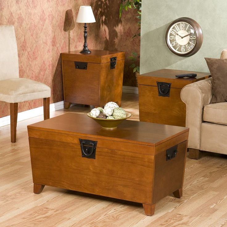 Southern Enterprises Pyramid Trunk Table Collection - HN3029-9