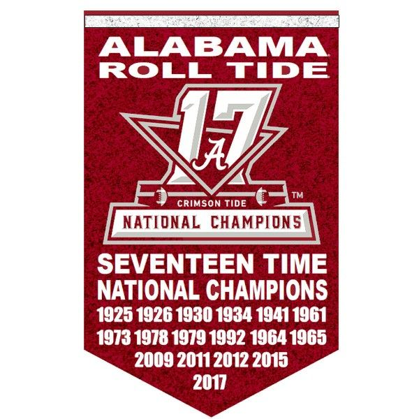 Alabama Crimson Tide 17 Time And 2017 National Football Champions Banner Consists Of Our Alabama Crimson Tide Roll Tide Football Alabama Crimson Tide Football