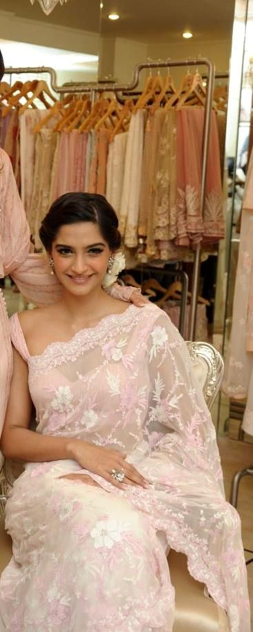 Sonam Kapoor in a Lace Sari saree