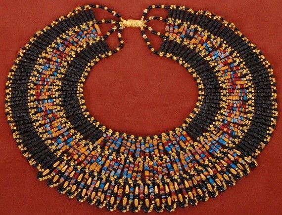 Multicolor brillante momia grano Collar collar por thenile en Etsy
