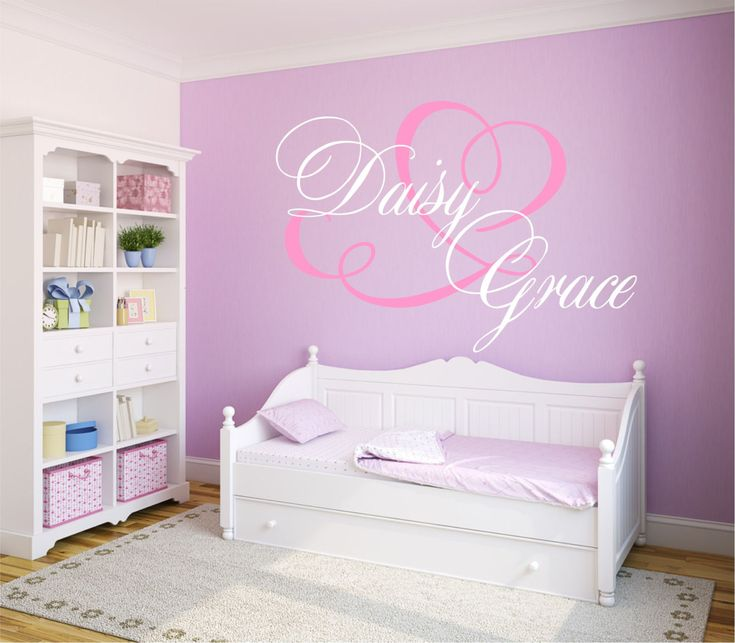 Best Girls Vinyl Wall Decal Images On Pinterest Vinyl Wall - Personalized custom vinyl wall decals for nurserypersonalized vinyl etsy