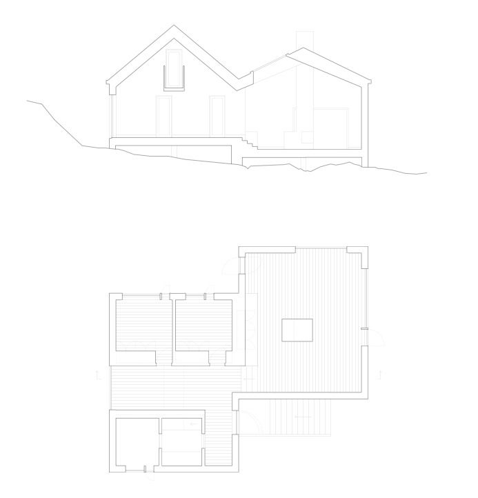 Vega Cottage / Kolman Boye Architects :: to provide contrast to the other drawings of this building that I pinned...