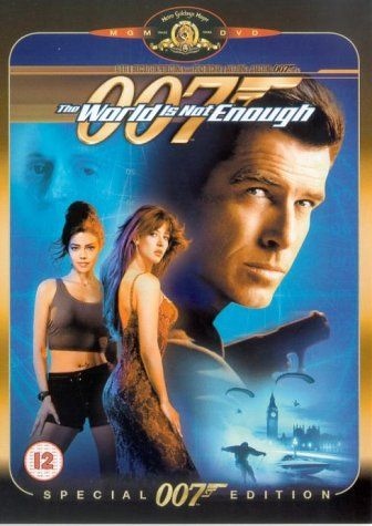 """The World Is Not Enough (1999) based on the books by Iam Fleming, directed by Michael Apted, starring Pierce Brosnan, Sophie Marceau, Robert Carlyle, Denise Richards, Robbie Coltrane and Judi Dench. """"James Bond uncovers a nuclear plot when he protects an oil heiress from her former kidnapper, an international terrorist who can't feel pain."""""""