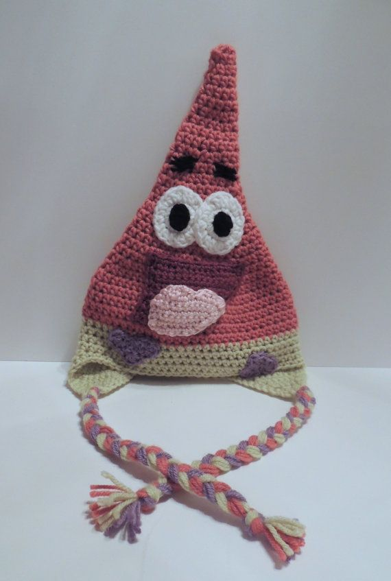 Free Crochet Pattern Patrick Star : Patrick Star Crochet Hat Baby Child sizes by ...