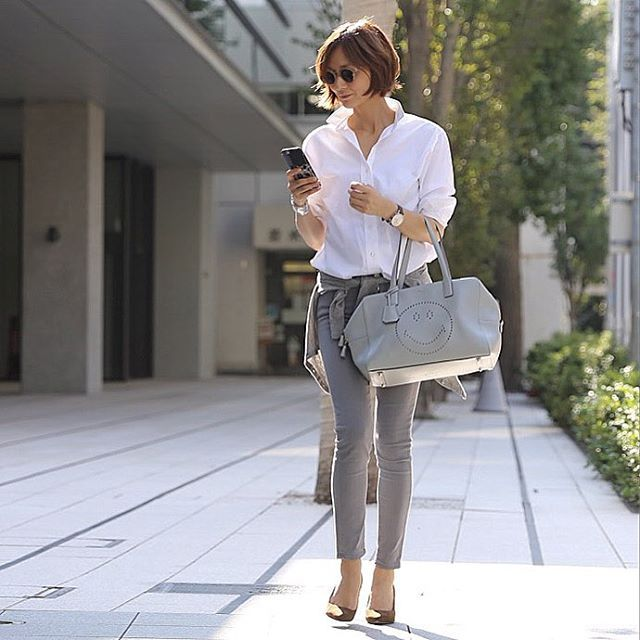 #outfit Gray×Camel