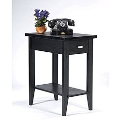 Furniture Of America Catrin Black Wood Miniscule End Table ($130) 14x22