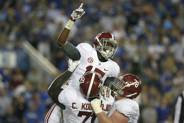 No. 1 Alabama vs. Kentucky: Crimson Tide rolls over Wildcats, 48-7 - SBNation.com  Another  one bites the dust and we head home to roast some pigs.  RTR!