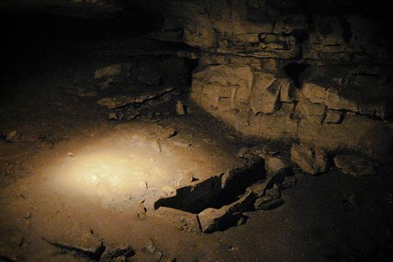 The Bell Witch Cave in Adams, Tennessee   stands where the Bell Farm used to be. The Bell family was tormented mercilessly by a scary entity known as the Bell Witch. Legends say the Bell Witch haunted the area around the cave for hundreds of years. Been there done that!
