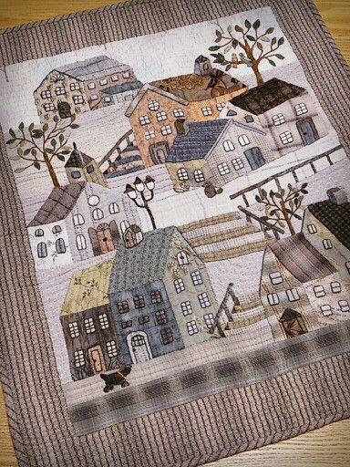 Wonderful oriental house quilt