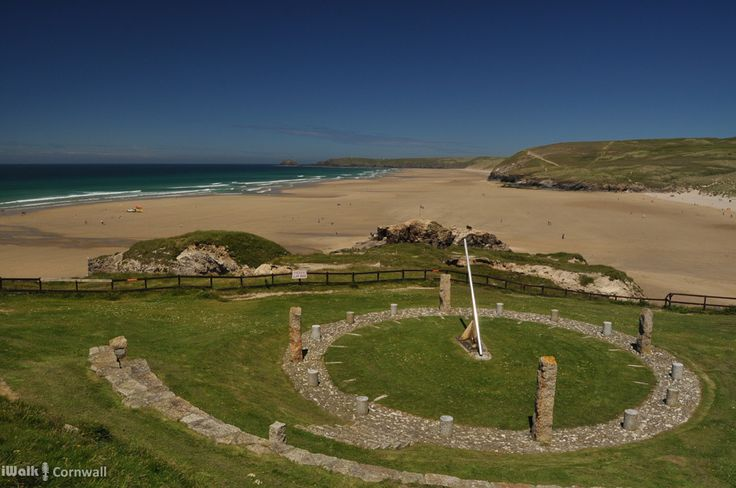 Sundial at Perranporth, Cornwall