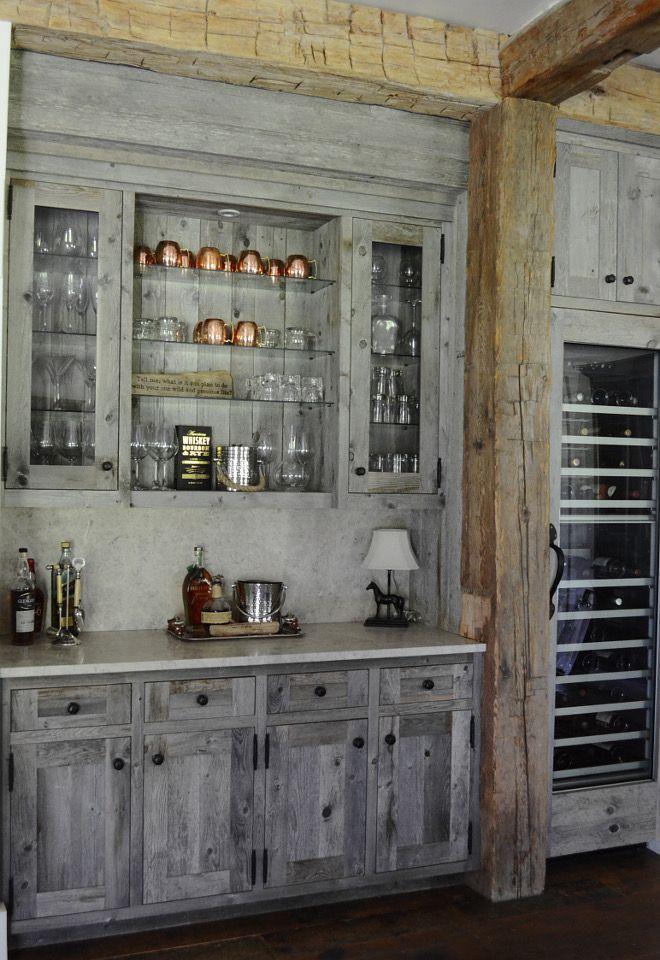 Barnwood Bar Rustic Reclaimed Wood Bar Cabinet This Custom