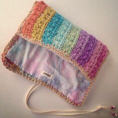 crochet clutch Bad - Idee Muster für Handytasche/Tablettasche