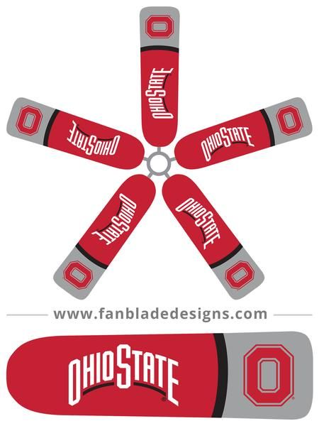 Impress Your Friends And Bring The Excitement Home With Our Ohio State Buckeyes Ceiling Fan Blade