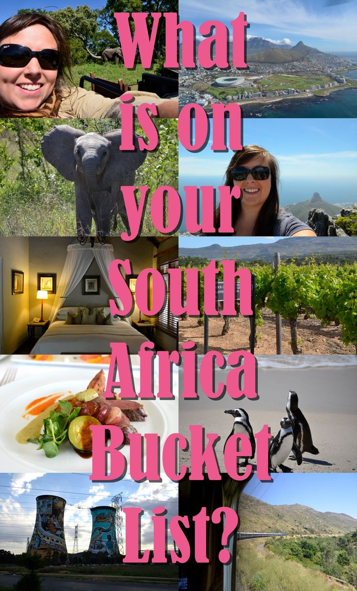 What is on your #South #Africa #Bucket #List? What would you like to see, do, and eat? Where would you most like to visit?