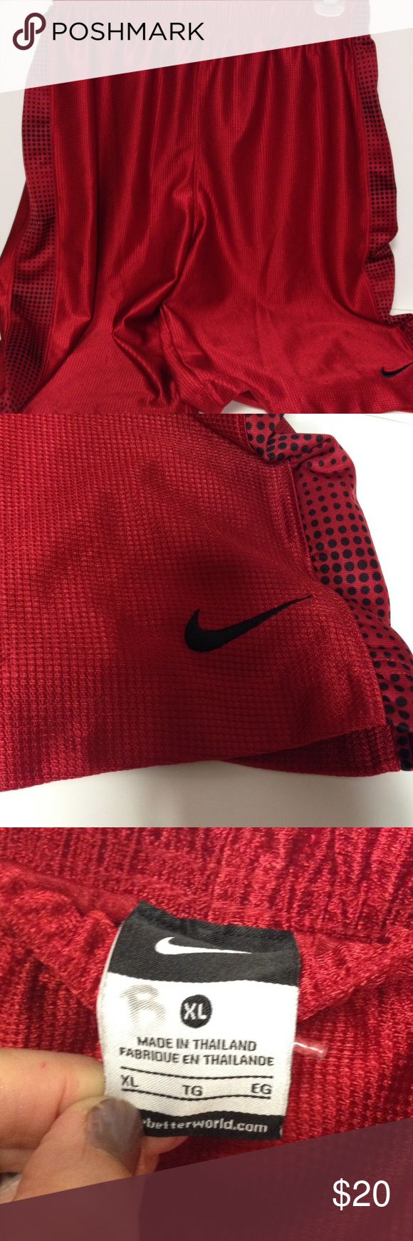 Nike basketball shorts red size XL Men's Nike basketball shorts. Great clean condition. Pet and smoke free Nike Shorts Athletic