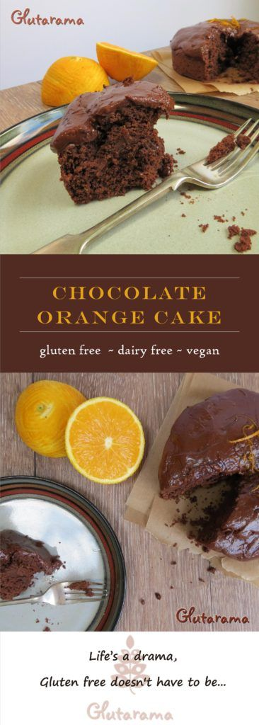 Chocolate Orange Cake - vegan and gluten free
