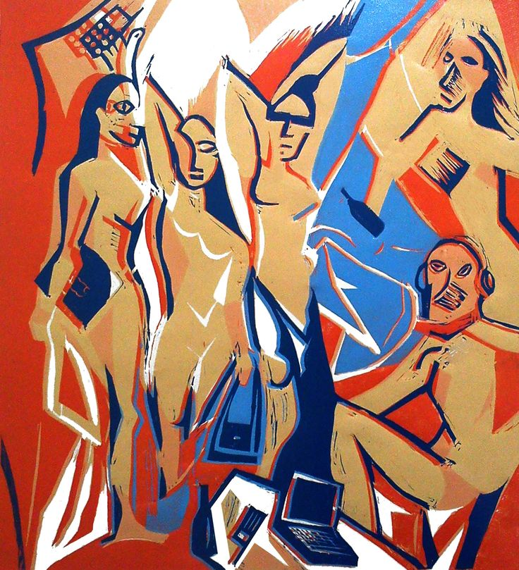 picasso / linocut pastiche / by Justyna Hajduk