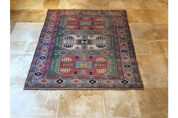 Sunning Antique Style Persian Carpet Rug Red & Green Number 3 | Vinterior   #antique #vintage