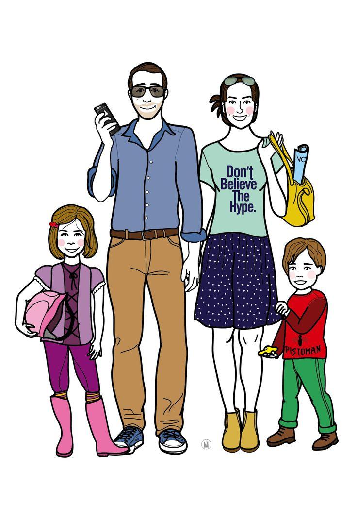 COMMANDE PRIVEE • portrait de famille personnalisée - conditions sur mon blog - http://www.myzotte.fr/portrait-de-famille-illustre/ juin 2014 © myzotte