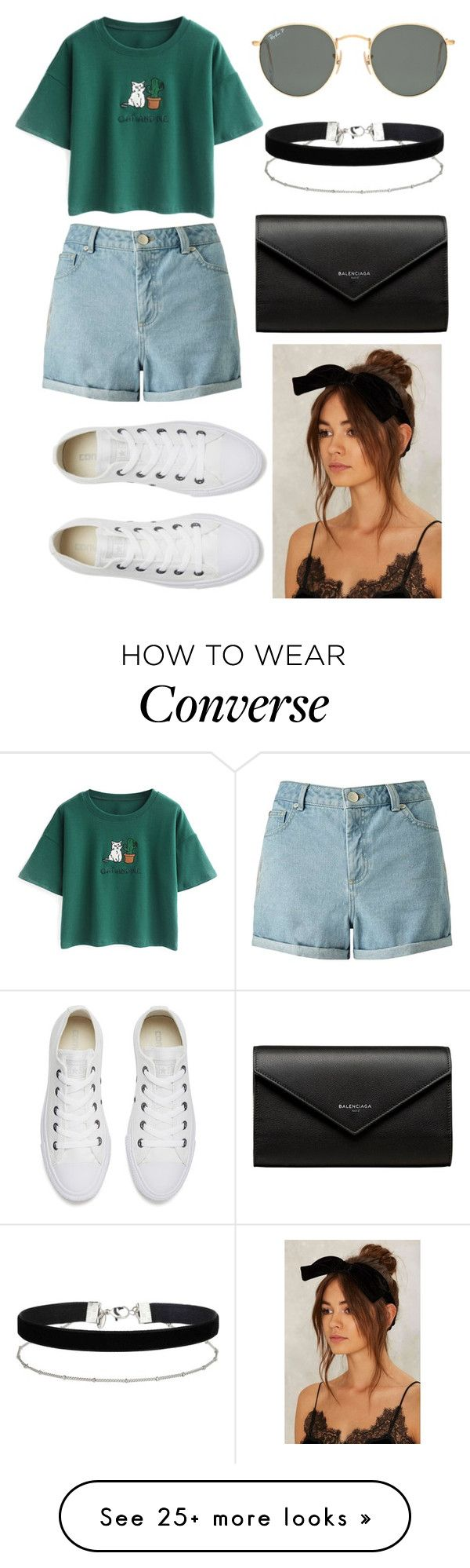 """"" by alda-naura on Polyvore featuring Miss Selfridge, Chicnova Fashion, Converse, Ray-Ban, Balenciaga, polyvorecommunity and polyvorefashion"