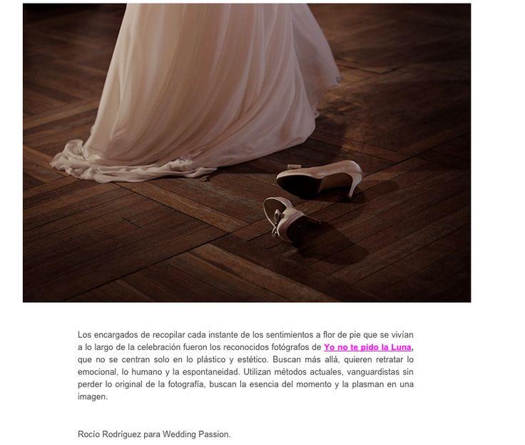 Nueva entrada en el blog. YNTPL en WEDDING PASSION