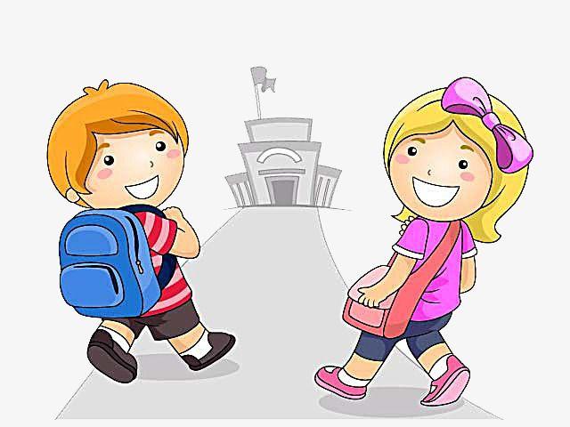 بعض الفتيان و الفتيات من الذهاب إلى المدرسة صور ولد فتاة الذهاب إلى المدرسة Png وملف Psd للتحميل مجانا Kids Playing School Pictures Little Boy And Girl