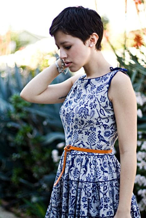 Love this blue & white floral colour combination in a dress! Karla's Closet