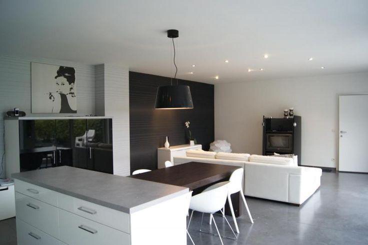 Strak interieur zwart-wit | Interieurafwerking & interieurdecoratie | Boones | Jochen Boonen | Ieper