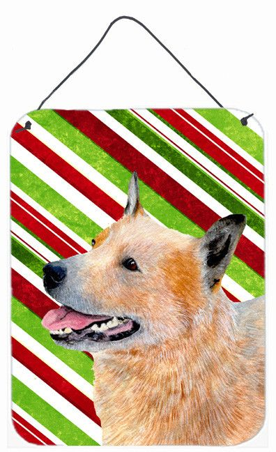 Australian Cattle Dog Candy Cane Holiday Christmas Wall or Door Hanging Prints